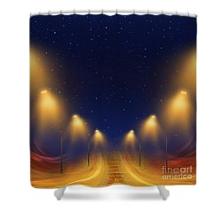 On The Way Home - Digital Painting By Giada Rossi Shower Curtain by Giada Rossi