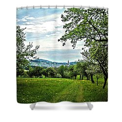On The Way To Gramastetten ... Shower Curtain