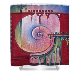 Shower Curtain featuring the painting On The Way To The Treasury by Anna Ewa Miarczynska