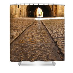 On The Way To The Western Wall - The Kotel - Old City, Jerusalem, Israel Shower Curtain by Yoel Koskas