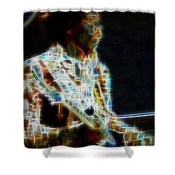 On The Wings Of Dragonflies Shower Curtain