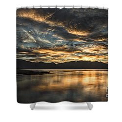 On The Wings Of The Night Shower Curtain by Mitch Shindelbower