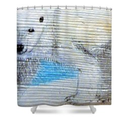 On Thin Ice Shower Curtain by Ann Michelle Swadener