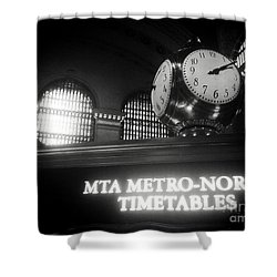 On Time At Grand Central Station Shower Curtain by James Aiken