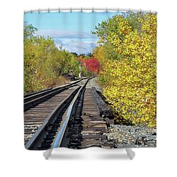 Shower Curtain featuring the photograph On To Fall by Glenn Gordon