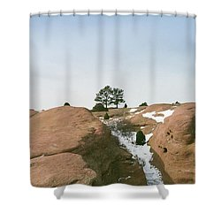 On Top Of The Rock Shower Curtain