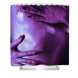 On Tv Shower Curtain by Robert WK Clark