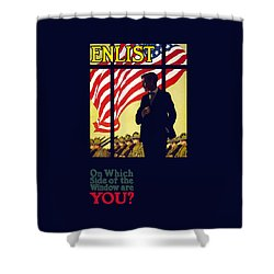 On Which Side Of The Window Are You Shower Curtain by War Is Hell Store