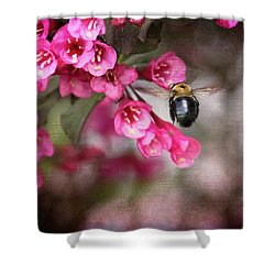 On Wine And Roses Weigela - 2 Shower Curtain