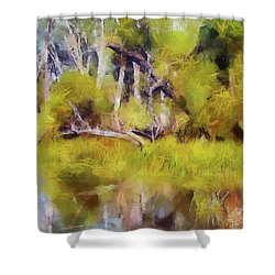 Once A Great Tree Shower Curtain