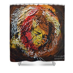 Once A Lion Shower Curtain