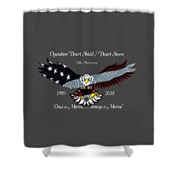 Once A Marine Shower Curtain by Bill Richards
