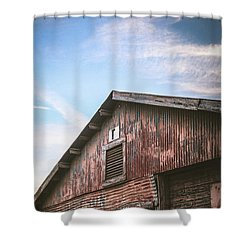 Shower Curtain featuring the photograph Once Industrial - Series 1 by Trish Mistric