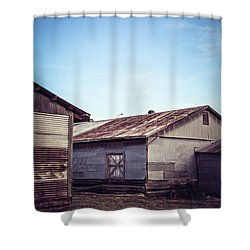 Shower Curtain featuring the photograph Once Industrial - Series 2 by Trish Mistric