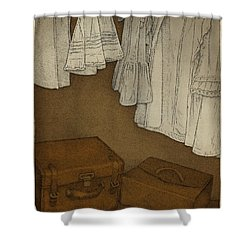 Once Shower Curtain by Meg Shearer