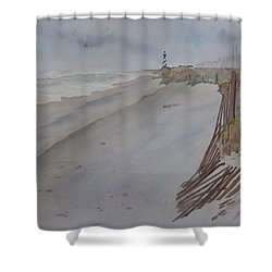 Once There Was A Lighthouse Shower Curtain by Joel Deutsch