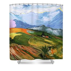 Once There Were Green Fields Shower Curtain