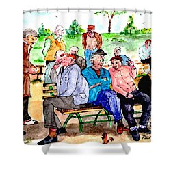 Once Upon A Park Bench Shower Curtain