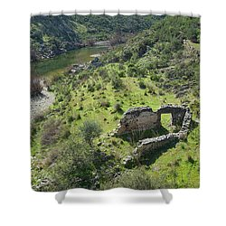Once Upon A Time A Creek Home Shower Curtain by Angelo DeVal