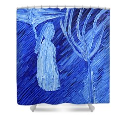 Shower Curtain featuring the painting Once Upon A Time In November by Vadim Levin