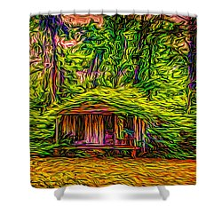 Once Upon A Time Shower Curtain by Louis Ferreira