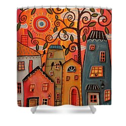 One Afternoon Shower Curtain by Karla Gerard