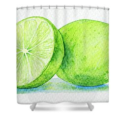 One And A Half Limes Shower Curtain