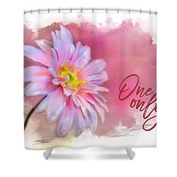 One  And Only Shower Curtain by Mary Timman