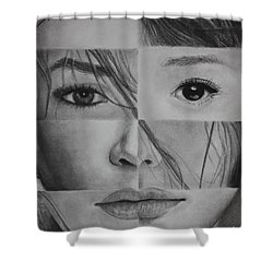 Shower Curtain featuring the drawing One And The Same 1 by Malinda Prudhomme