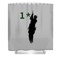 Shower Curtain featuring the photograph One Asterisk by David Morefield