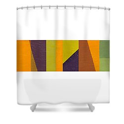Shower Curtain featuring the painting One By Three by Michelle Calkins