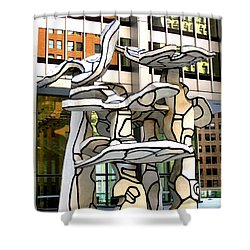 One Chase Manhattan Plaza 1 Shower Curtain