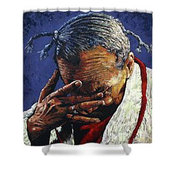 One Day At A Time Shower Curtain by John Lautermilch