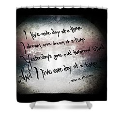Shower Curtain featuring the photograph One Day.... by Trish Mistric
