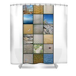 One Day At The Beach Ll Shower Curtain by Michelle Calkins