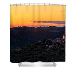 One Evening In September Shower Curtain