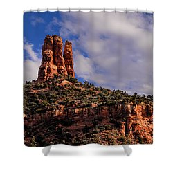Shower Curtain featuring the photograph One Finger Shy by Mark Myhaver