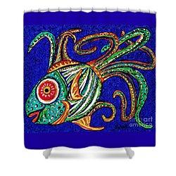 One Fish Shower Curtain by Sarah Loft