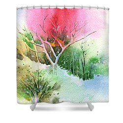 One For My Master Shower Curtain by Anil Nene