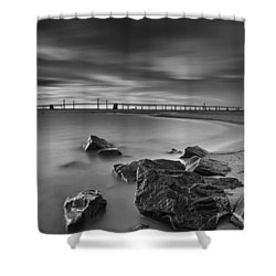Shower Curtain featuring the photograph One For The Road by Edward Kreis