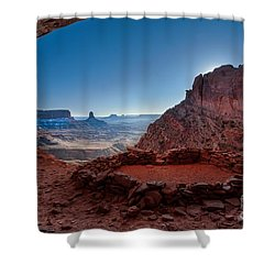 One Kiva Shower Curtain