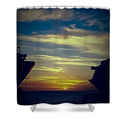 Shower Curtain featuring the photograph One Last Glimpse by DigiArt Diaries by Vicky B Fuller