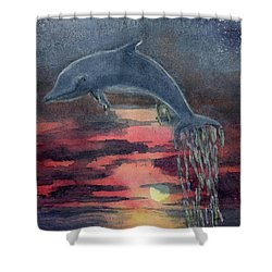 One Last Jump Shower Curtain by Randy Sprout