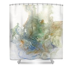 One Missing Shower Curtain