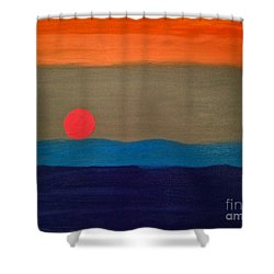 One Moment Shower Curtain