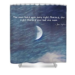 One Moon Shower Curtain