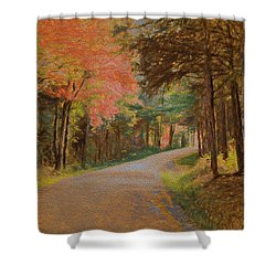 One More Country Road Shower Curtain by John Selmer Sr