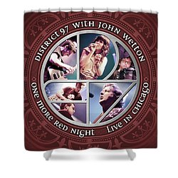 Shower Curtain featuring the digital art One More Red Night by District 97