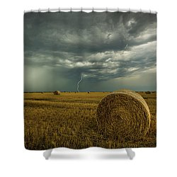 Shower Curtain featuring the photograph One More Time A Round by Aaron J Groen