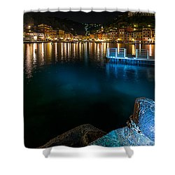 One Night In Portofino - Una Notte A Portofino Shower Curtain